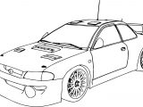Sport Race Car Coloring Page