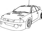 Sport Race Car Coloring Page Perspective