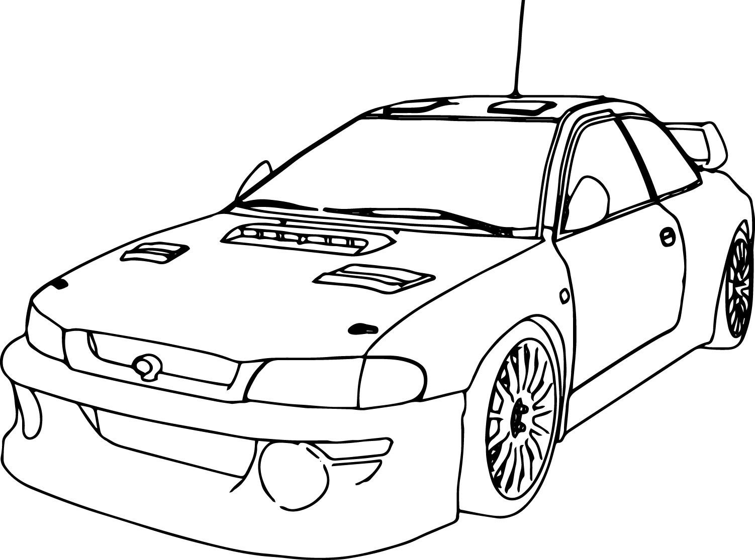 Sport Race Car Coloring Page Perspective | Wecoloringpage.com