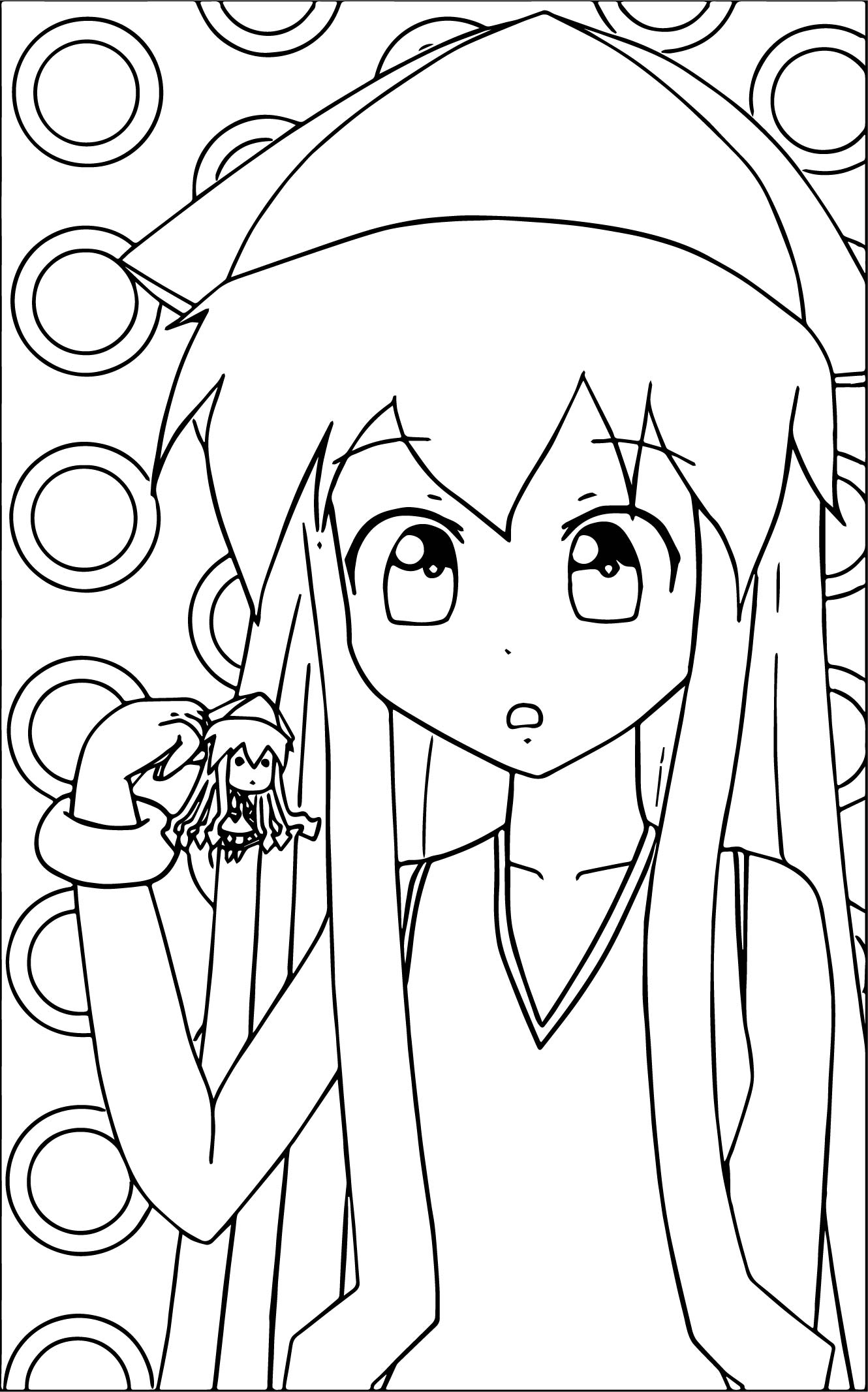 Squid Girl And Small Girl Coloring Page