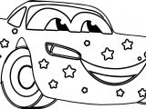 Star Disney Car Coloring Page