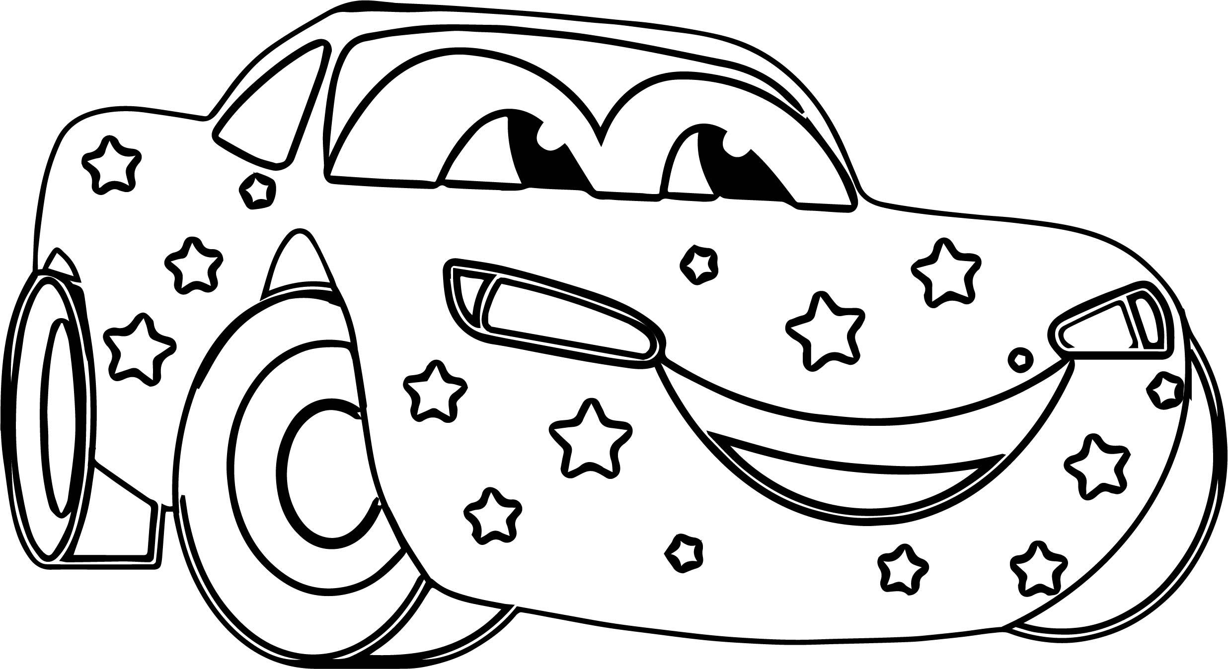 Star Disney Car Coloring Page