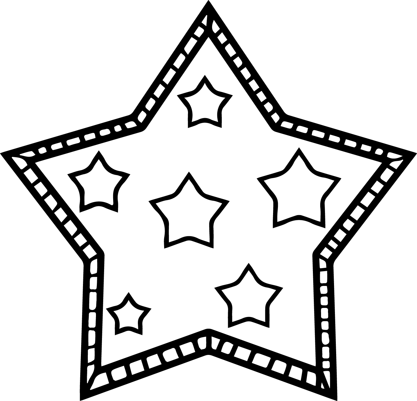 Star For Children Coloring Page