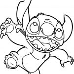 Stitch Catch Coloring Page