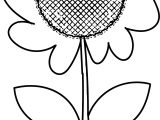 Sun Flower Coloring Page