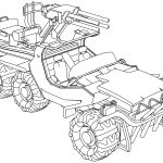 Swan Rigged War Truck Car Coloring Page