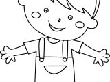 Sweet Child Boy Coloring Page