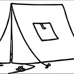 TN Completely Constructed Yellow Tent At Camp Camping Coloring Page