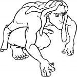 Tarzan Prowl Look Coloring Page