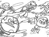 Teen Titans Go Beast Boy Team Attack Coloring Page