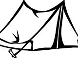Tent Art Camping Coloring Page