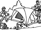 Tent Camping Coloring Page