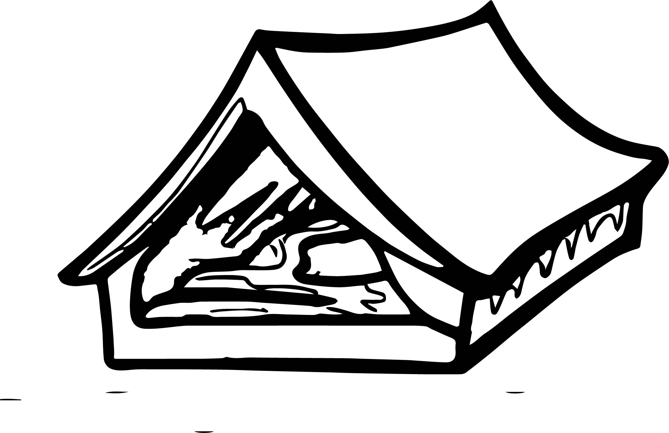 Tent Med Camping Coloring Page