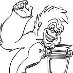 Terk Monkey Type Coloring Page