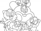 The Amazing World Of Gumball Family Coloring Page