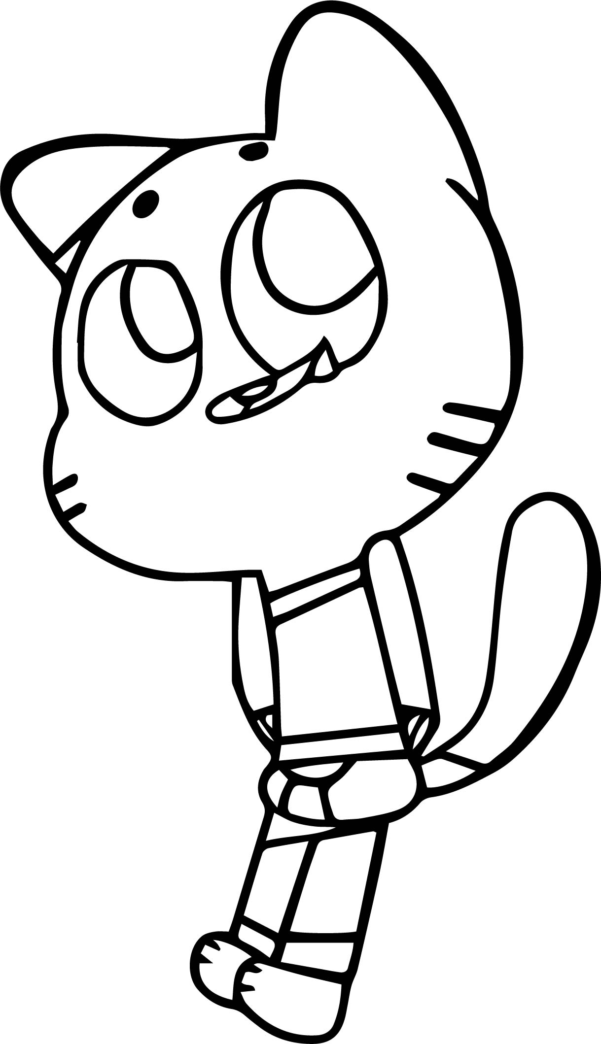 The Amazing World Of Gumball Image Coloring Page