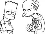 The Simpsons Boy Coloring Page