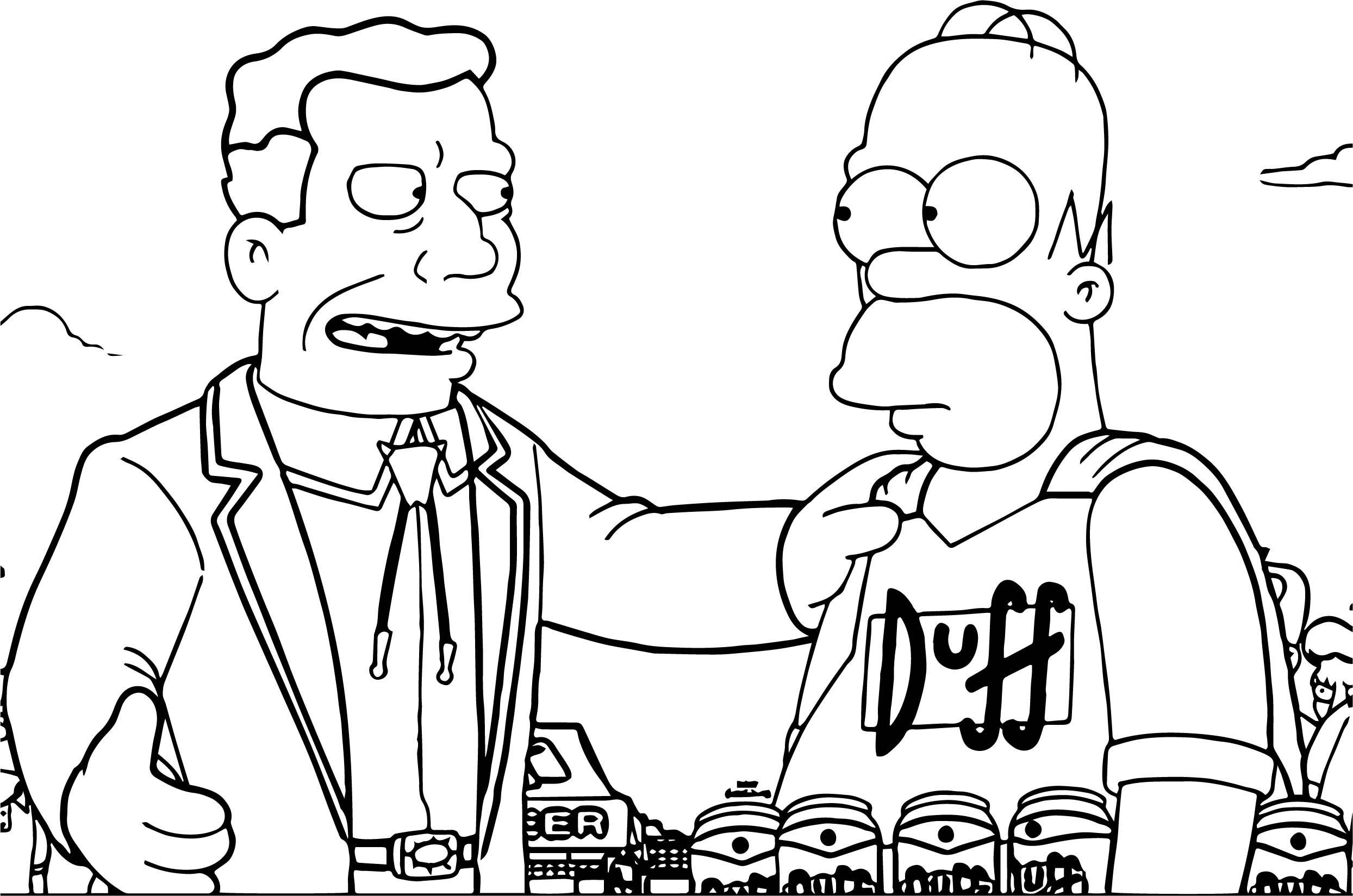 The Simpsons Duff Coloring Page