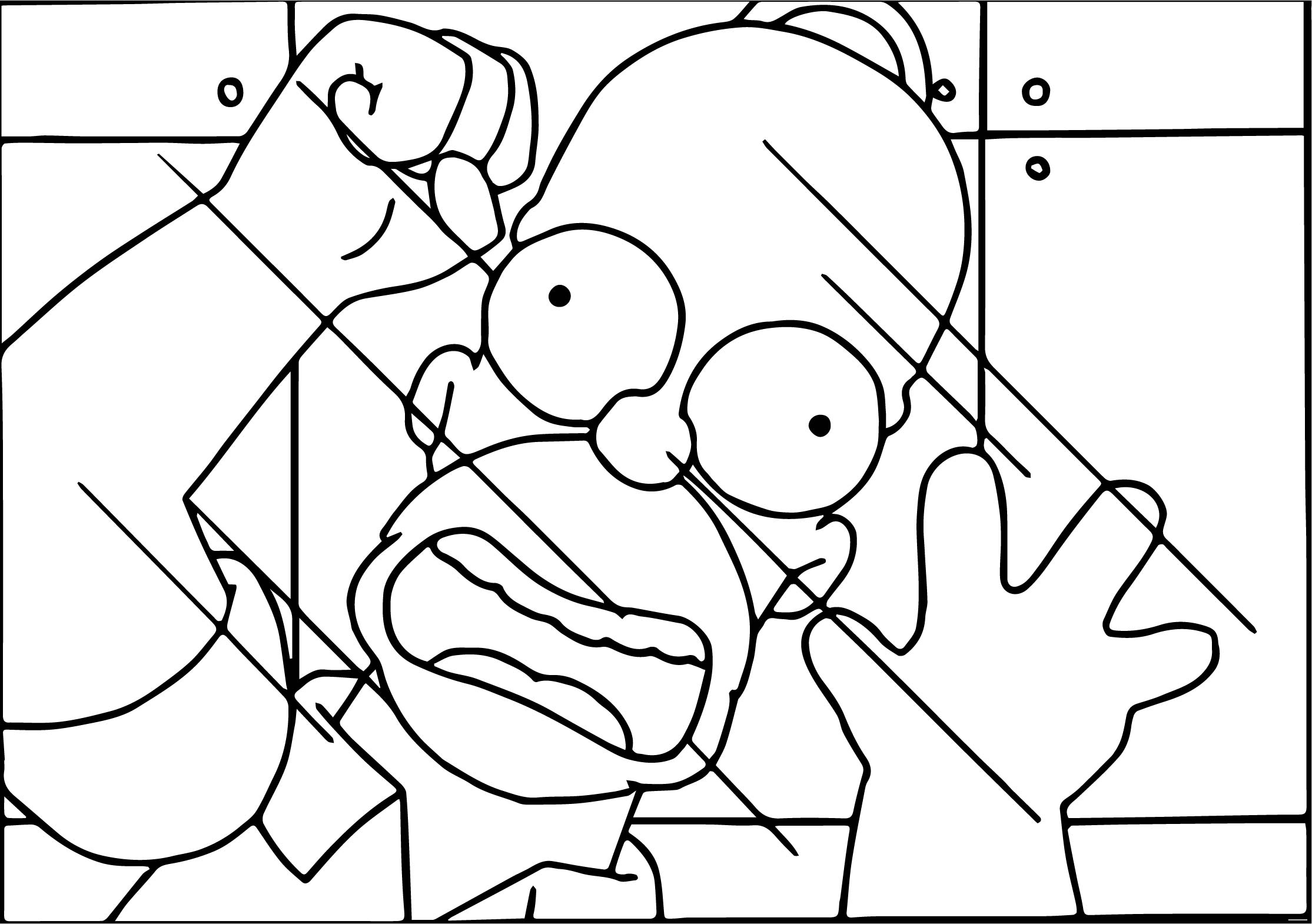 The Simpsons Help Glass Coloring Page