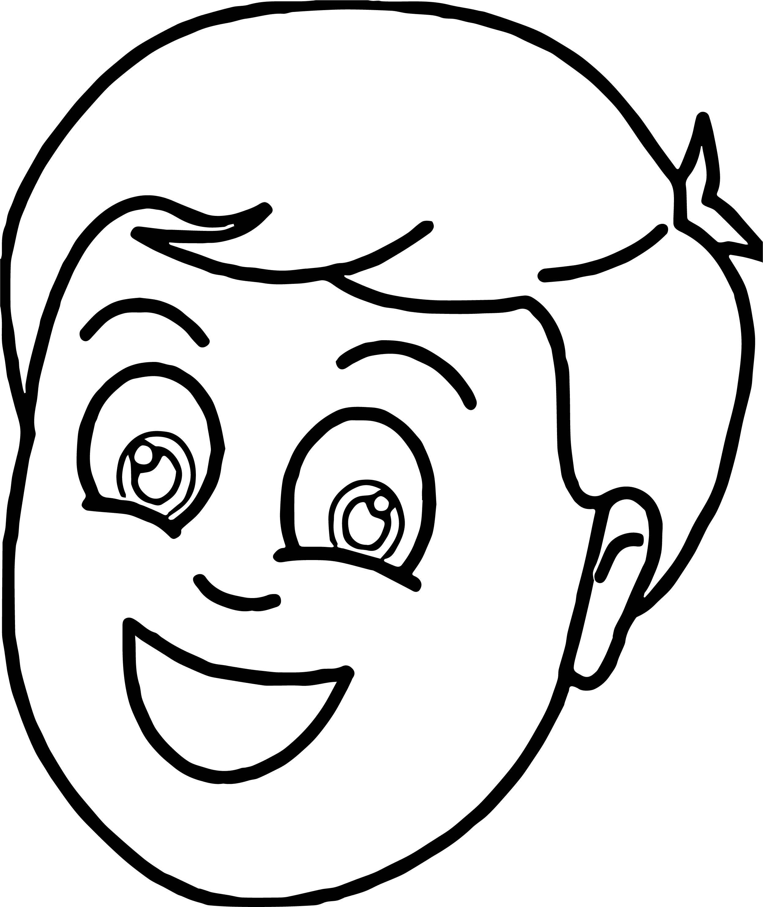 Tn Boy Smiling Face Coloring Page