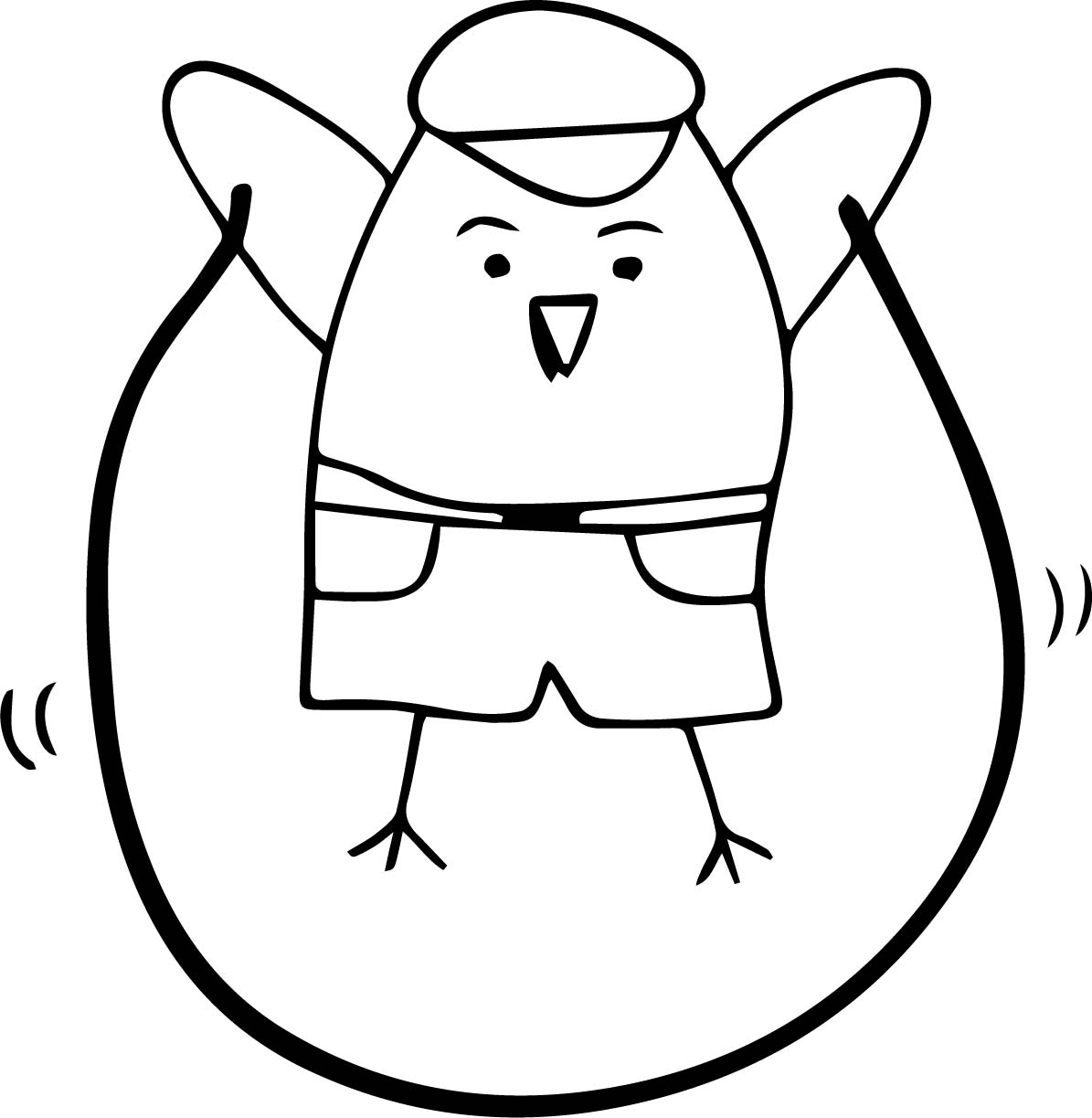 To Jump Rope Bird Coloring Page