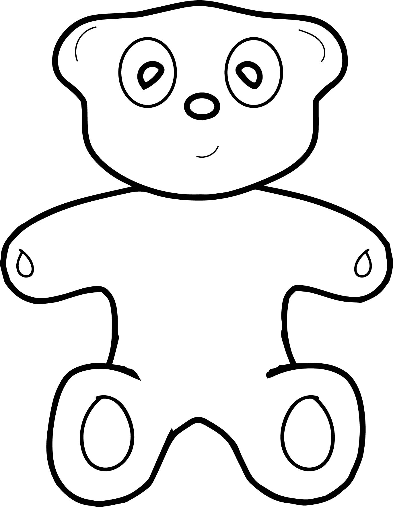 Toy Bear Basic Coloring Page