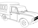 Truck Model 2715 Coloring Page