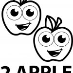 Two Apple Coloring Pages