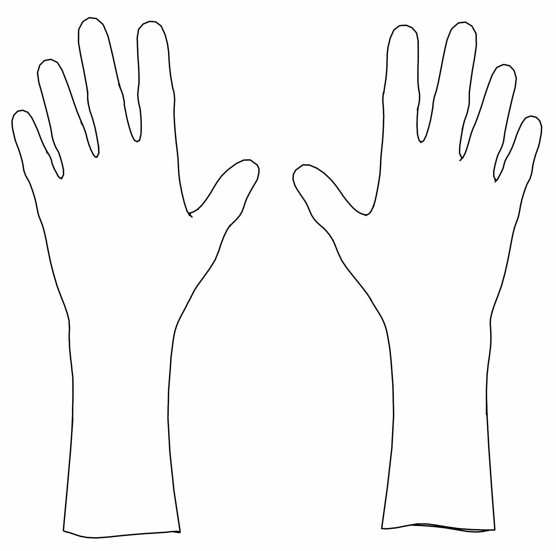 Two Hand Coloring Page