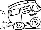Van Camping Coloring Page