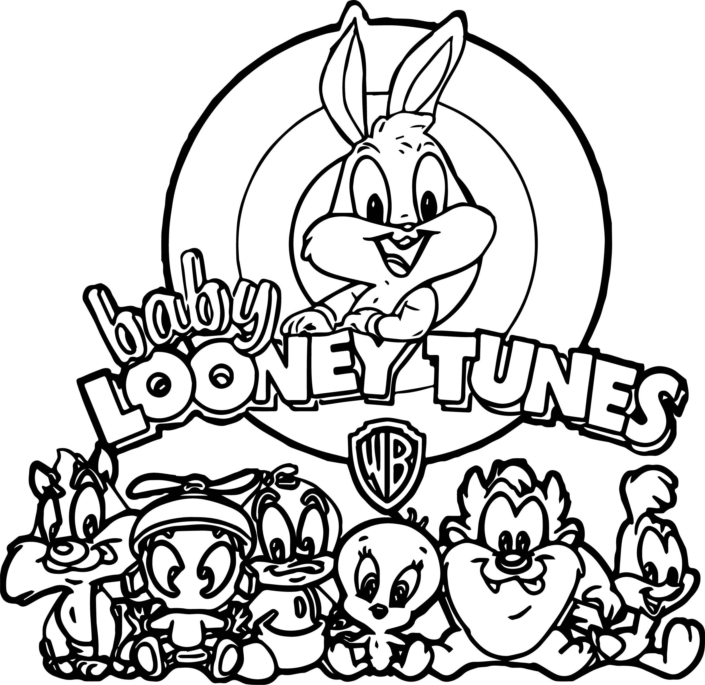 Warner Bros Baby Looney Tunes All Coloring Page