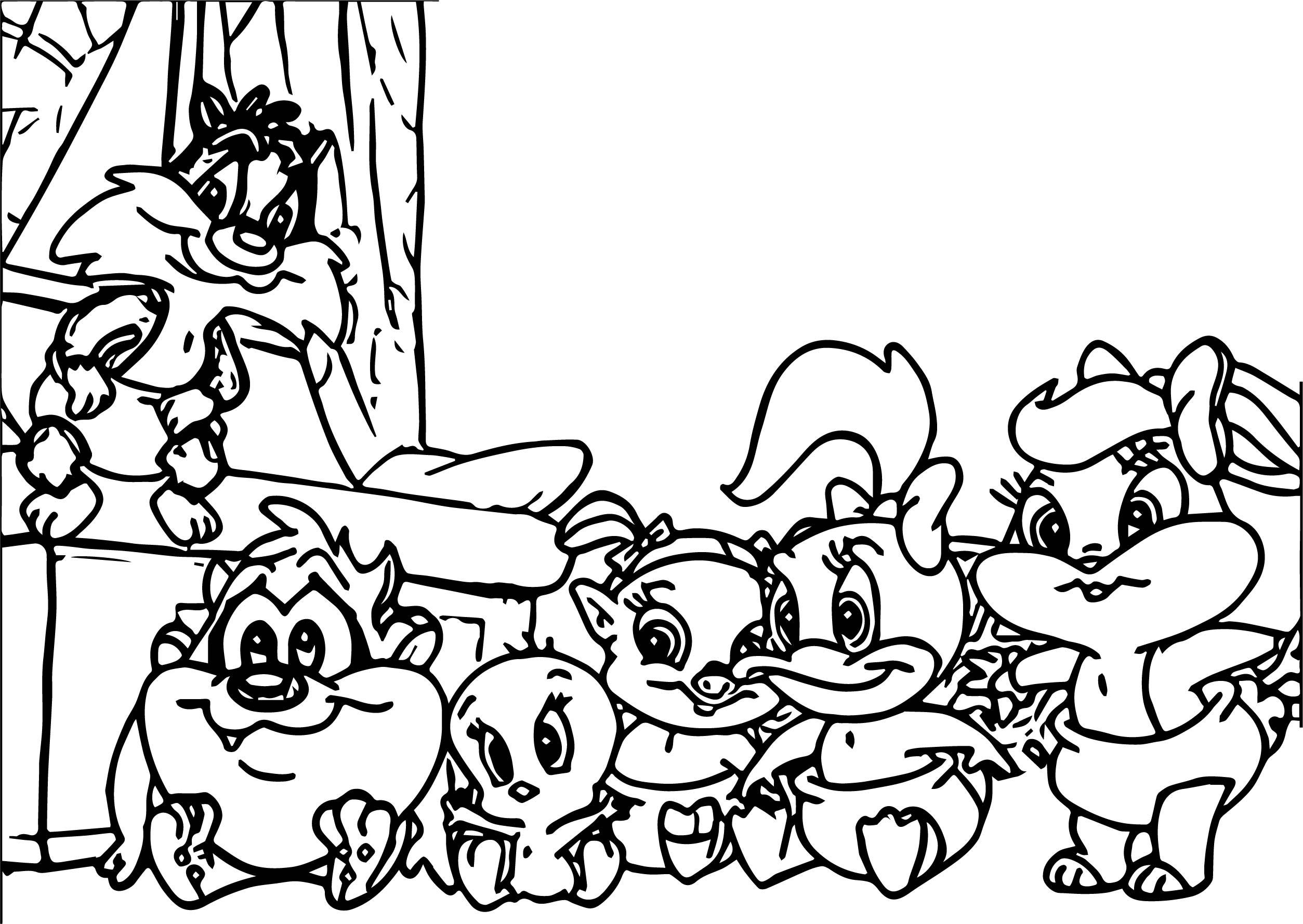 Warner Bros Baby Looney Tunes At Home Coloring Page