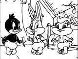 Warner Bros Baby Looney Tunes Bunny Lola Duck Coloring Page