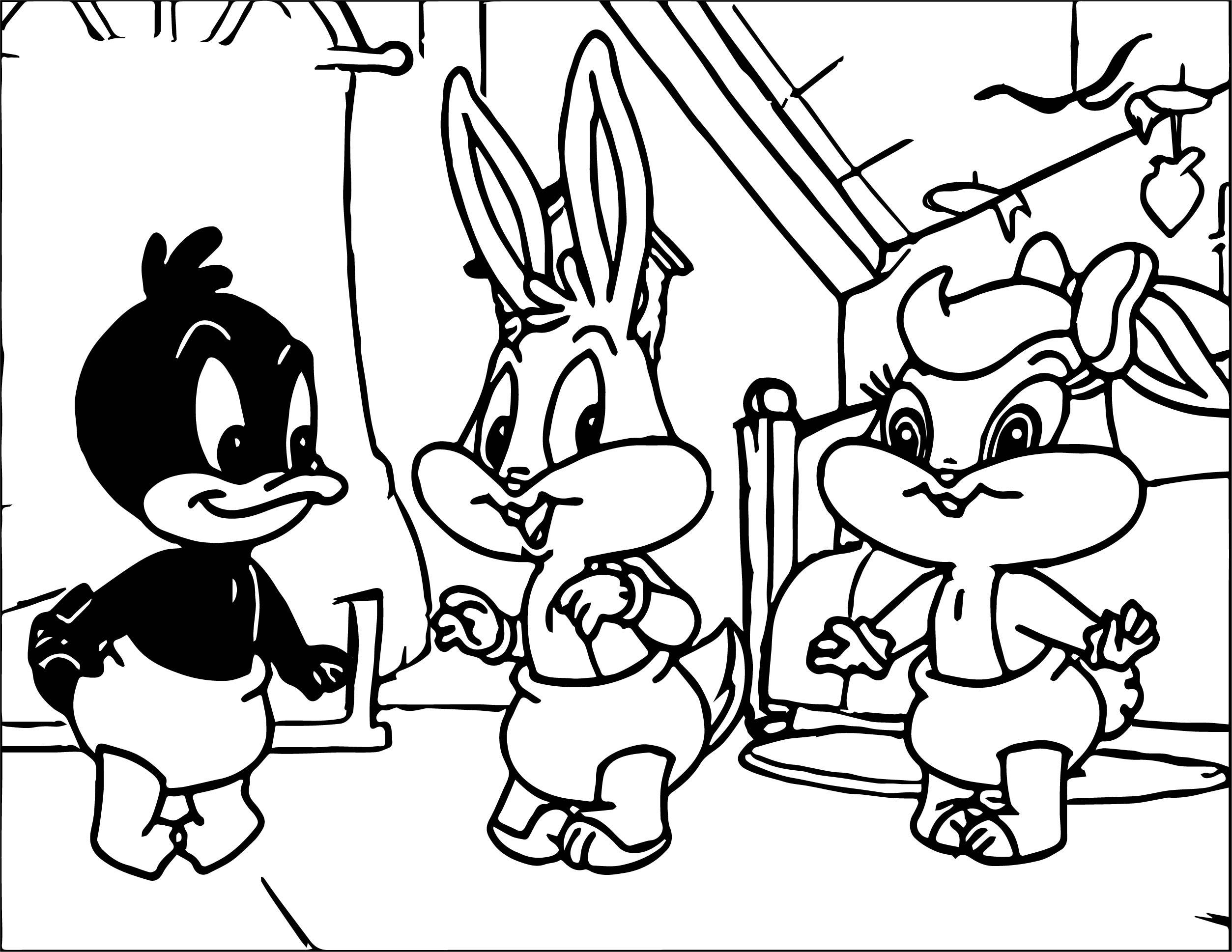 Warner Bros Baby Looney Tunes Bunny Lola Duck Coloring Page