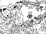 Warner Bros Baby Looney Tunes Duck Dog Nature Coloring Page
