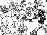 Warner Bros Baby Looney Tunes Easter Egg Coloring Page