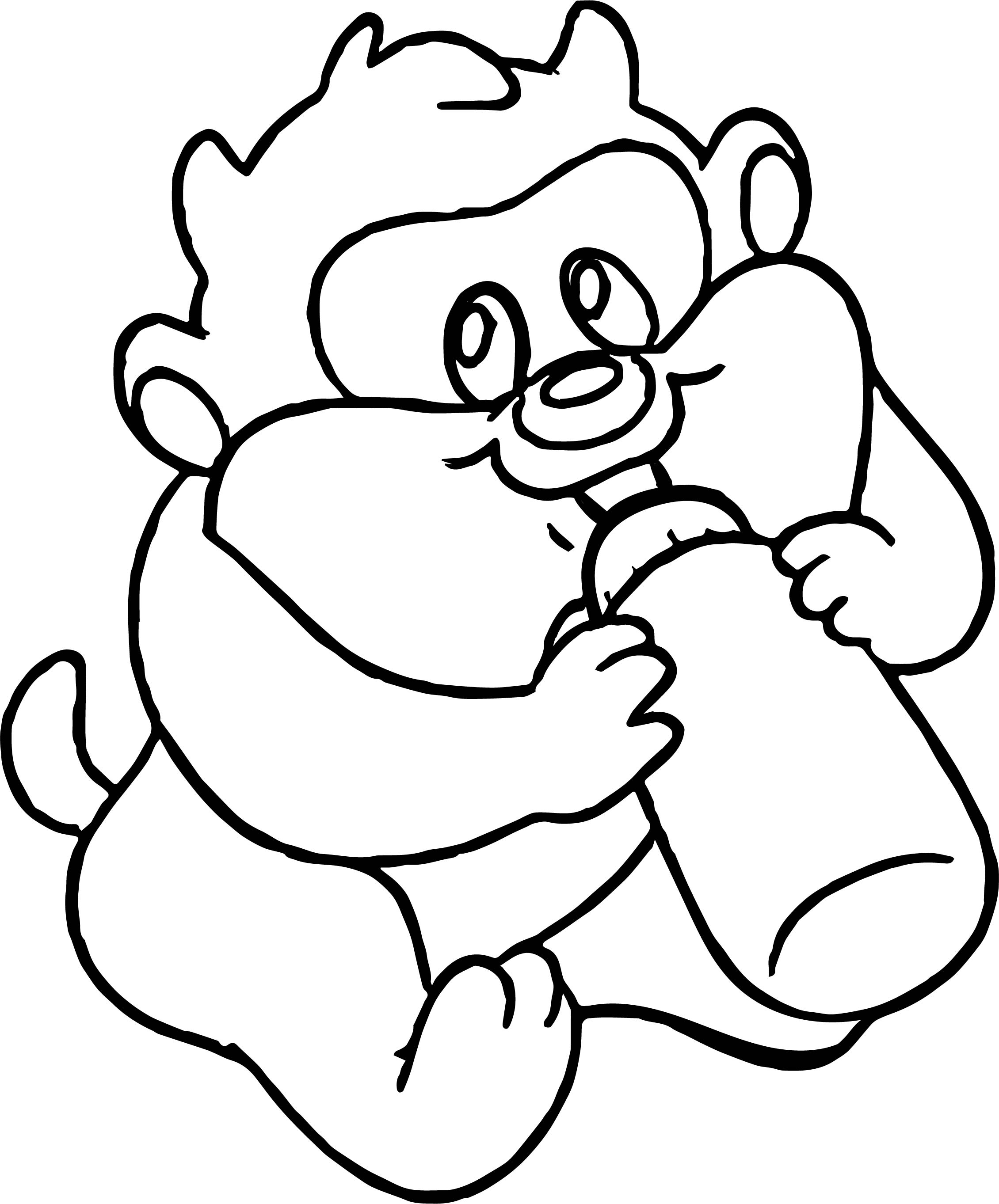 Warner Bros Baby Looney Tunes Tasmania Bottle Coloring Page