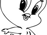 Warner Bros Baby Looney Tunes Tweety Big Head Coloring Page