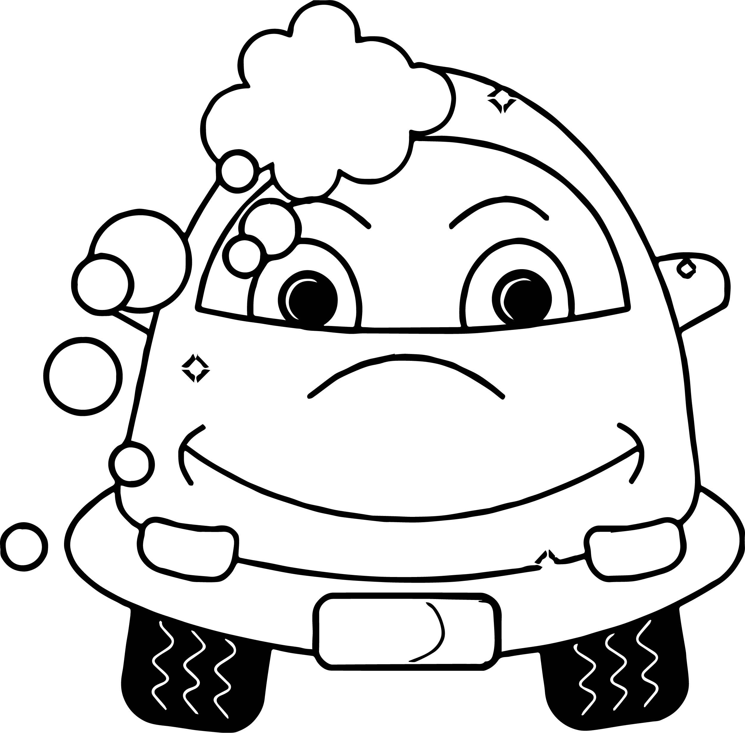 Washing Cartoon Car Coloring Page