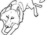 White Wolf From Balto Aniu Coloring Page