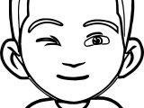Wink Boy Coloring Page