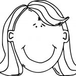 Womans Face With Red Hair Free In Open Office Coloring Page