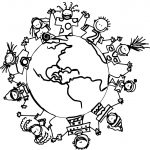 World Childrens Coloring Page