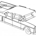 XNA Corvega Sedan Post Nuclear Edition FNV Car Coloring Page