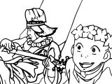 Aang Flower Crown Avatar Aang Coloring Page