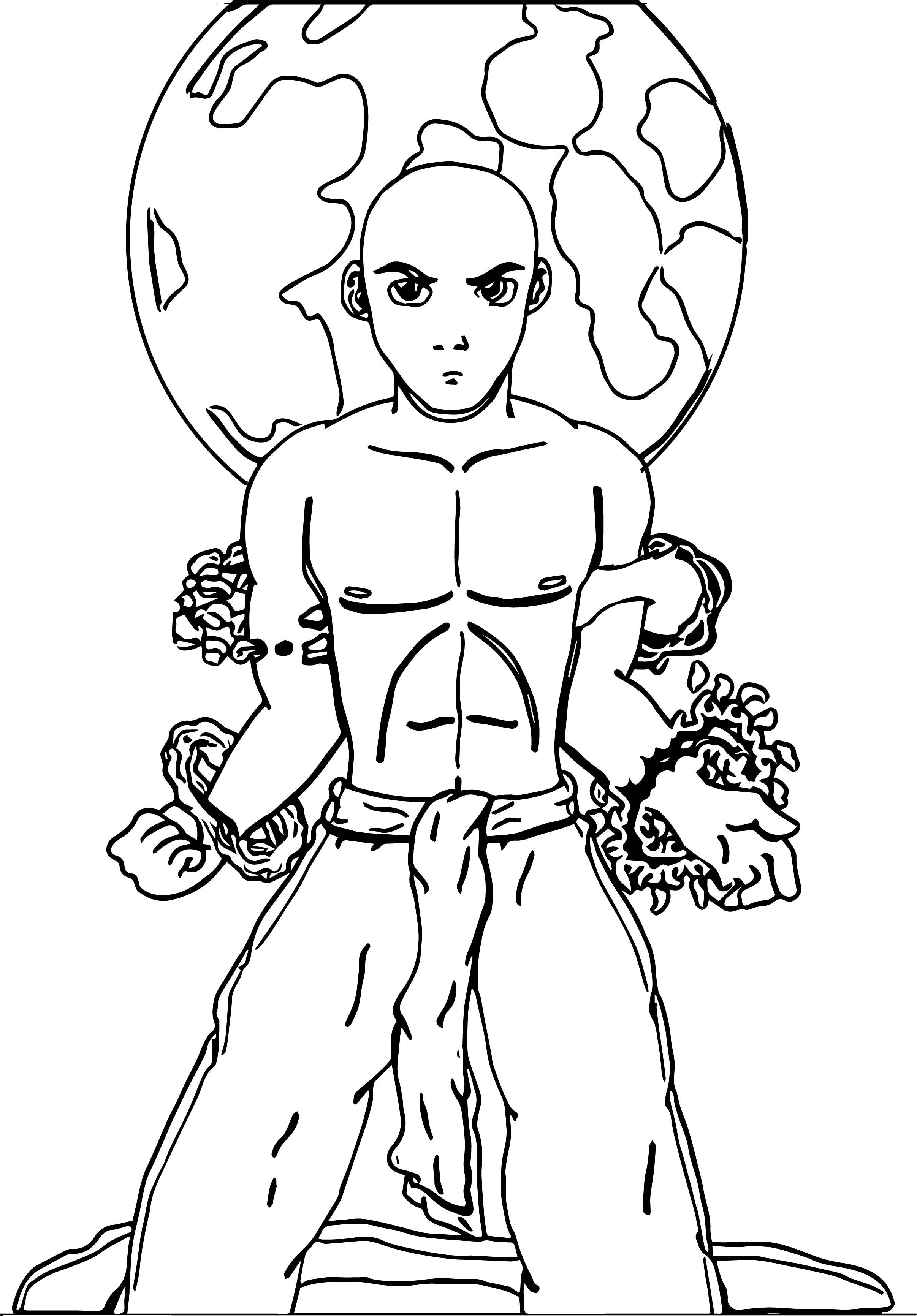 Aang Megzs Avatar Aang World Coloring Page