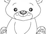 Act Cute Bear Coloring Page