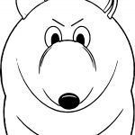 Air Bear Front View Coloring Page