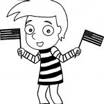 American Flag Boy We Coloring Page