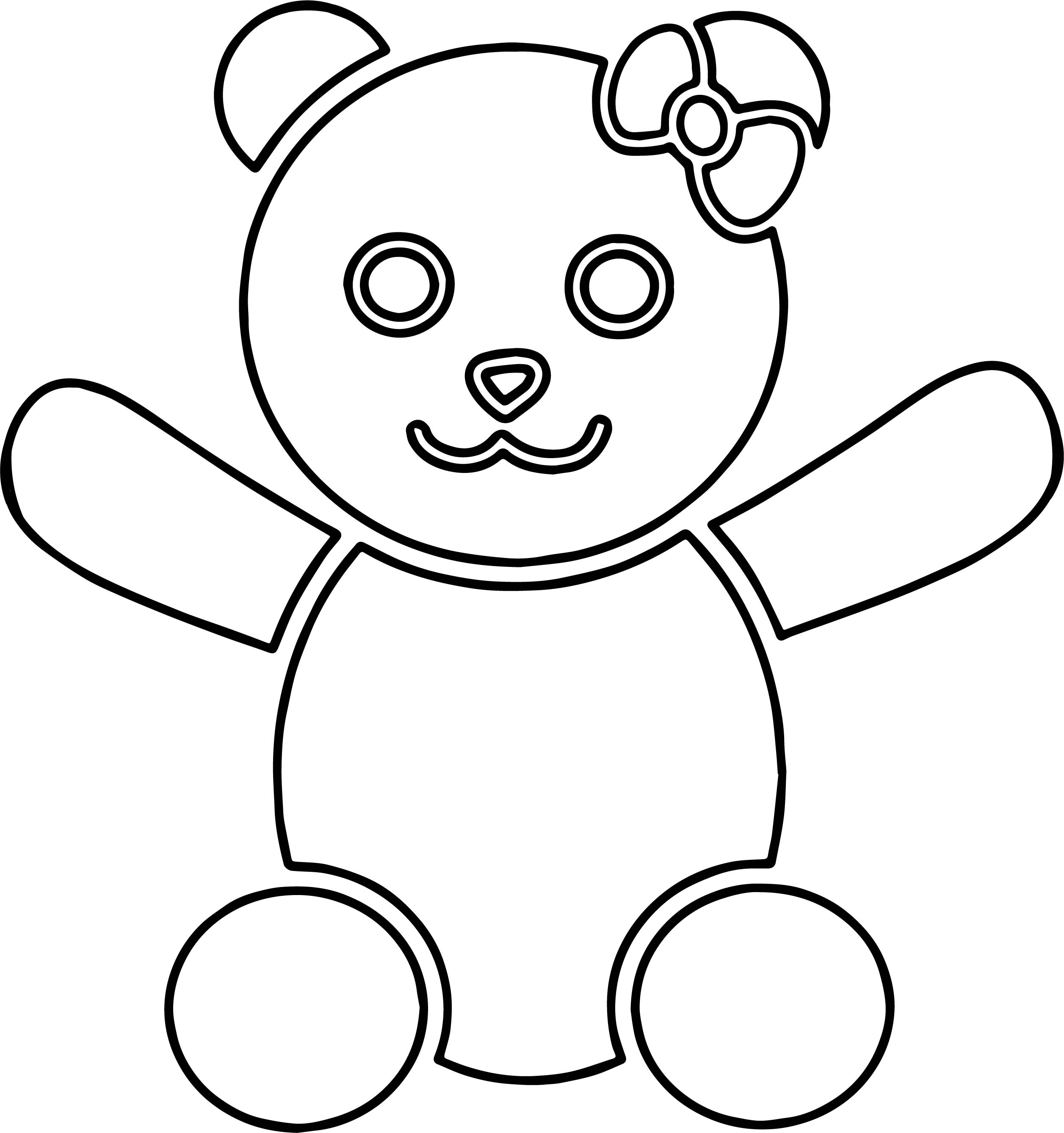 An Bear Coloring Page